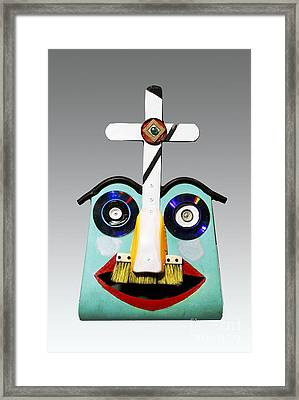 Sunday Mask Framed Print