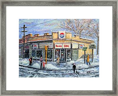 Framed Print featuring the painting Sunday Morning At Renie's Spa by Rita Brown