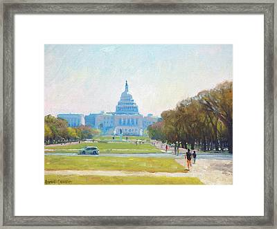 Sunday Morning At The Capitol Framed Print