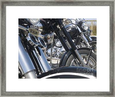 Sunday Morning Bike Pride Framed Print