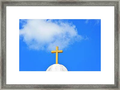 Sunday Morning - Cross Photography By Sharon Cummings Framed Print
