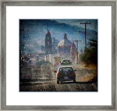 Sunday Morning Drive Framed Print