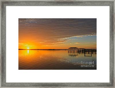 Sunday Morning Glow Framed Print by Deborah Benoit