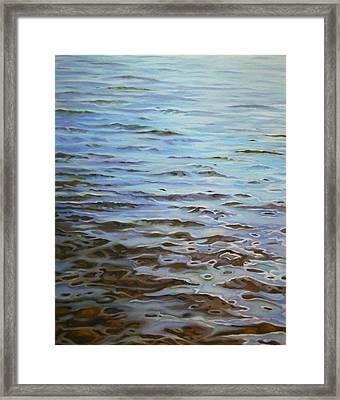 Sunday Morning Huntley Pond Framed Print by Jason Sawtelle