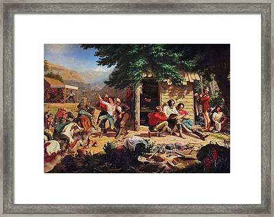 Sunday Morning In The Mines Framed Print by Charles Nahl