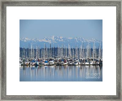 Sunday Morning Masts Framed Print