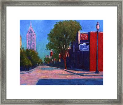 Sunday Morning On Dauphin Framed Print