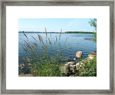 Sunday Morning River Walk Framed Print by Margaret McDermott