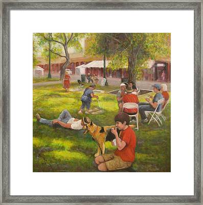 Sunday On The Plaza Framed Print by Donelli  DiMaria