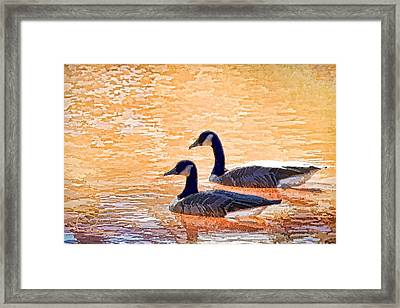 Framed Print featuring the photograph Sunday On The Pond by Ludwig Keck