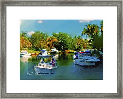 Framed Print featuring the painting Sunday Outing by Ted Azriel