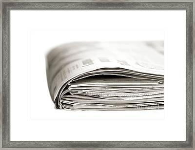 Sunday Paper Framed Print