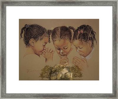Sunday Prayers Framed Print