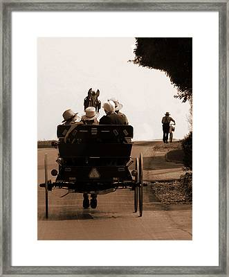 Sunday Ride Framed Print by Teri Moore