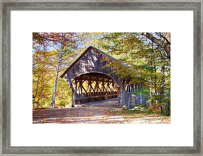 Sunday River Covered Bridge Framed Print
