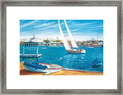 Sunday Sail Framed Print by Steve Simon
