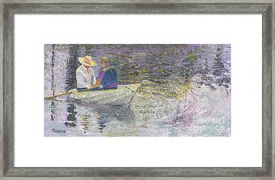 Framed Print featuring the painting Sunday Sailors by Sandy Linden
