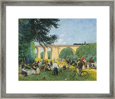 Sunday Summer At The Edge Of The Marne Framed Print by Celestial Images