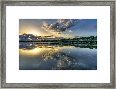 Sunday Sunrise Framed Print by Jeffrey W Spencer