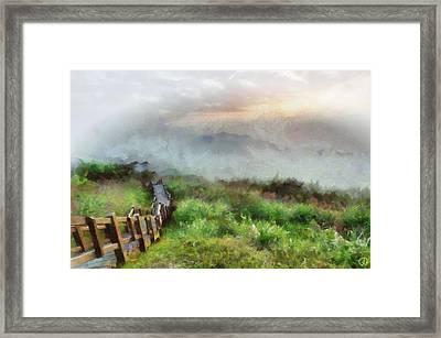 Sunday Walk Framed Print by Gun Legler