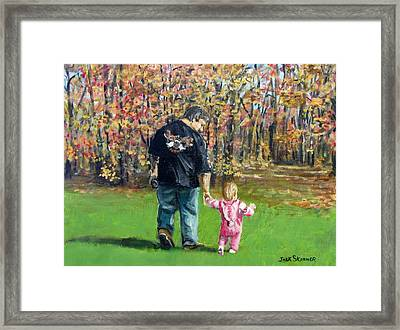 Sunday Walk With Dad Framed Print