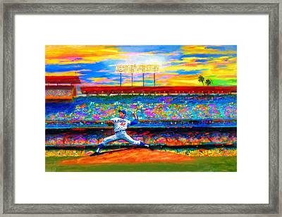 Sunday With Sandy Framed Print by Alan Greene