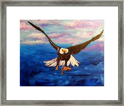 Sunday's Catch Framed Print