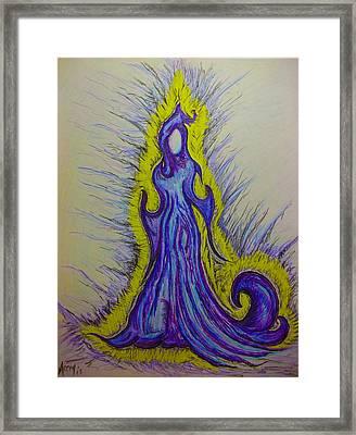 Sunday's Lady Framed Print by Catherine McCoy