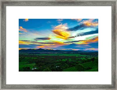 Sunday's Sunsets  Framed Print by Naomi Burgess