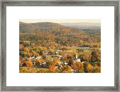 Sunderland In Autumn From Mount Sugarloaf Framed Print