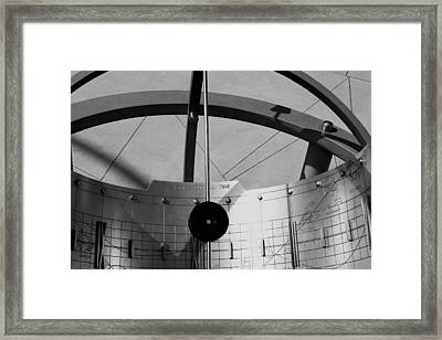 Sundial Abstract Framed Print by Richard Stephen