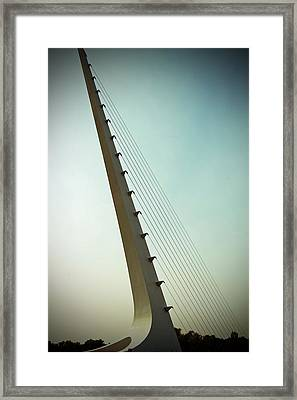 Sundial At Sunrise Framed Print