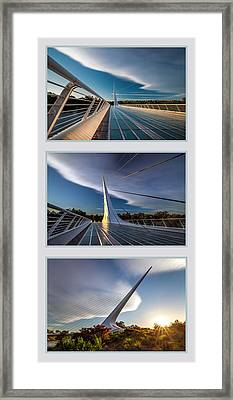 Sundial Bridge Triptych Framed Print