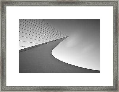 Sundial Bridge Bw 6 Framed Print