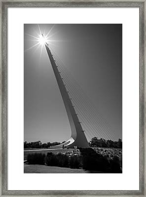 Sundial Bridge Sunburst Framed Print