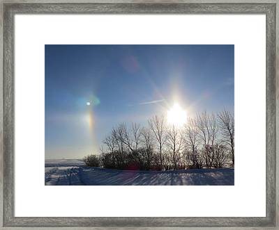 Sundog In North Dakota Framed Print