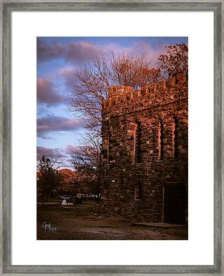 Sundown At Rhineland Castle Framed Print
