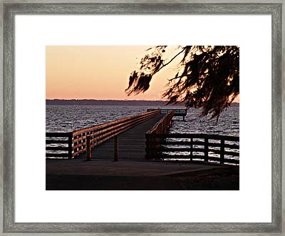 Sundown At Shands Dock Framed Print