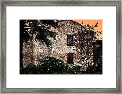 Sundown At The Alamo Framed Print by Gerlinde Keating - Galleria GK Keating Associates Inc