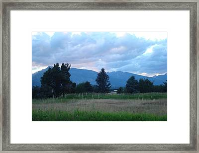Sundown At The Bitterroots Framed Print