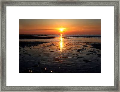 Sundown At The North Sea Framed Print