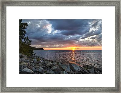 Sundown Bay Framed Print by Bill Pevlor