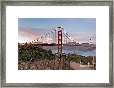 Framed Print featuring the photograph Sundown Bridge by Kate Brown