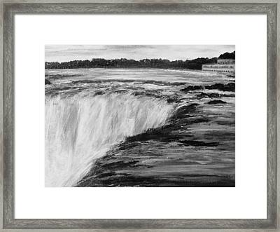 Framed Print featuring the painting Sundown Falls by Desline Vitto