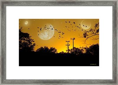 Sundown Fantasy Orange Framed Print by Brian Wallace