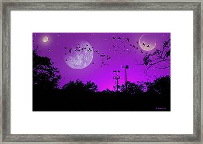 Sundown Fantasy - Violet Framed Print by Brian Wallace