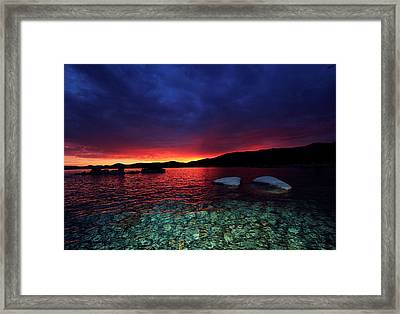 Sundown In Lake Tahoe Framed Print