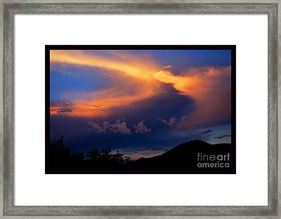 Sundown In The Canyon Framed Print