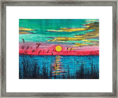 Sundown In The Glades Framed Print by Beverly Marshall