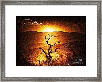 Sundown In The Mountains Framed Print